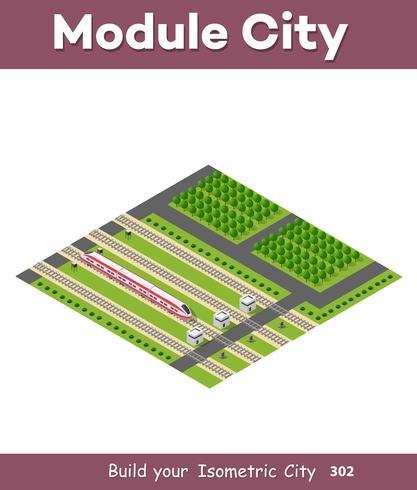 Trasporto ferroviario isometrico