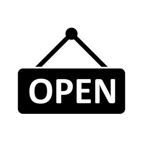 Open Glyph Black-pictogram