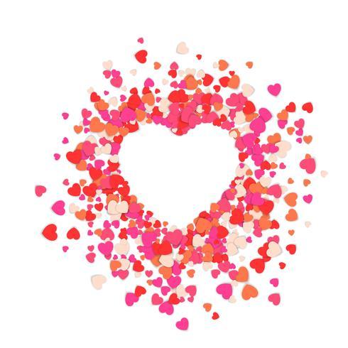 Fije el corazón, ilustración abstracta del amor.
