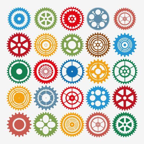 Engrenage multicolore
