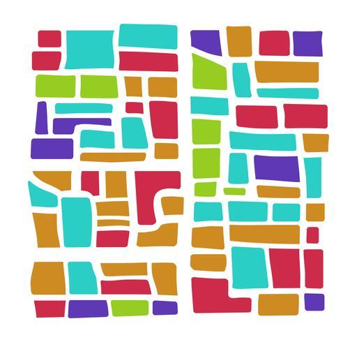 veelkleurig stadsplan