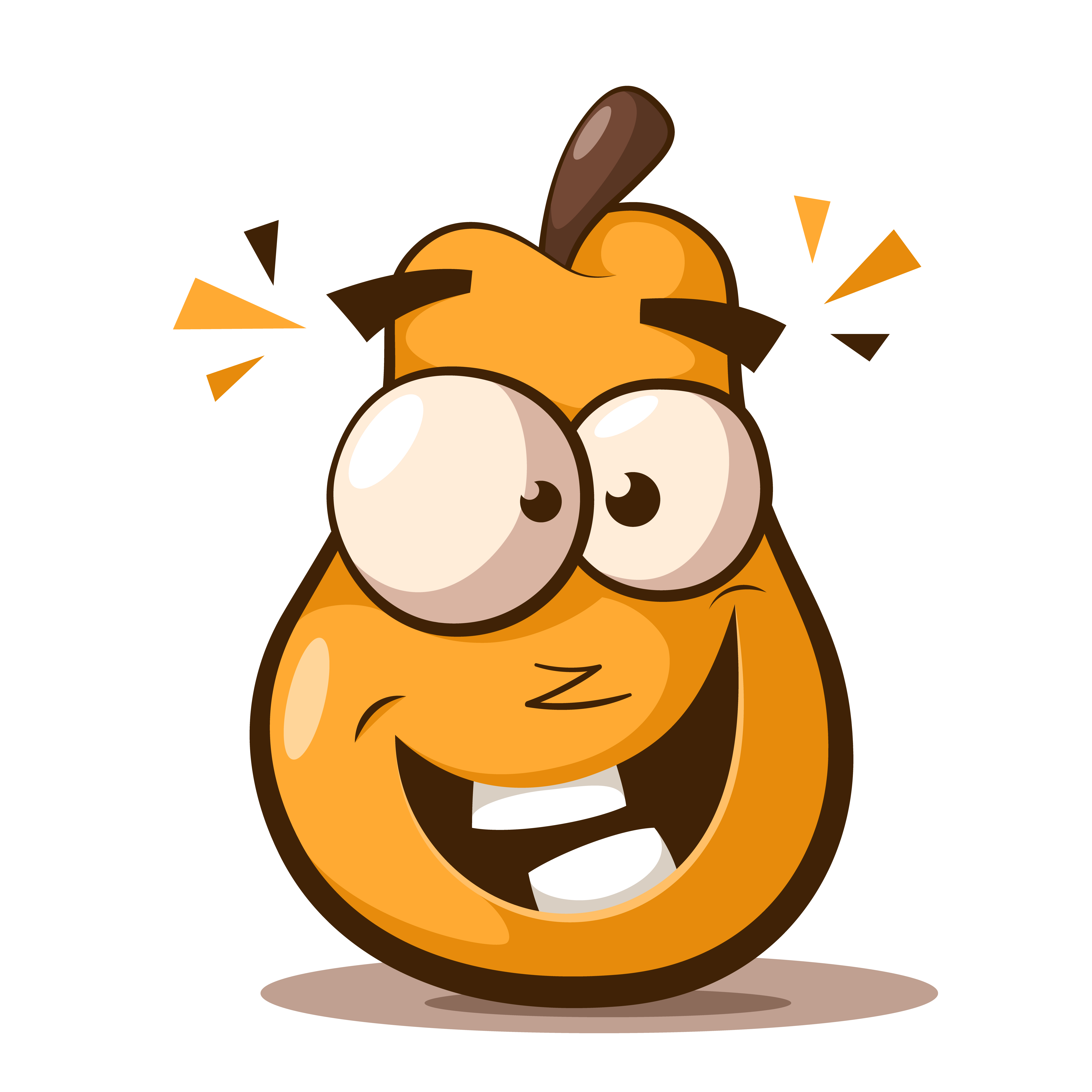 Cute, funny pear cartoon characters. - Download Free ...
