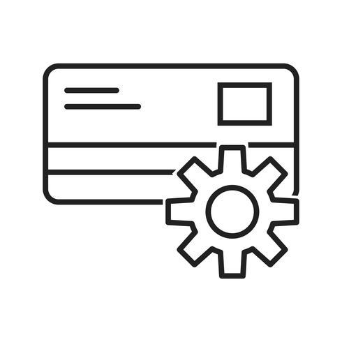Betaling Instelling lijn zwart pictogram
