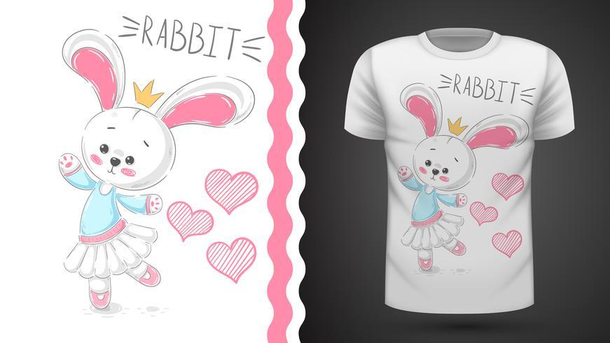 Danza coniglio - idea per t-shirt stampata