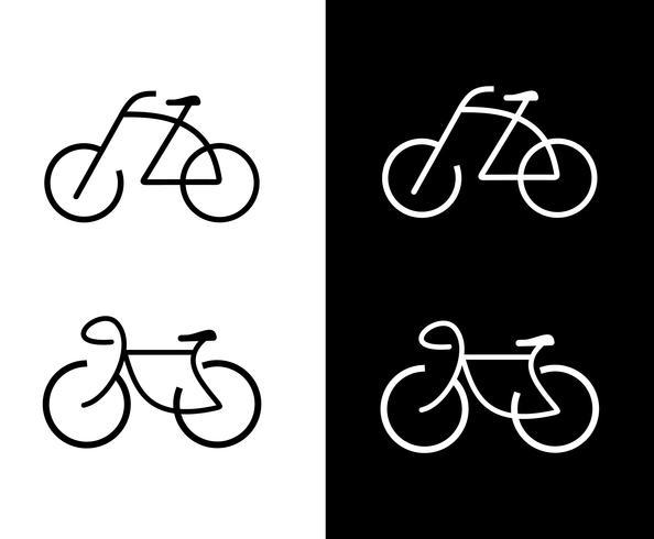 Fiets vector iconen