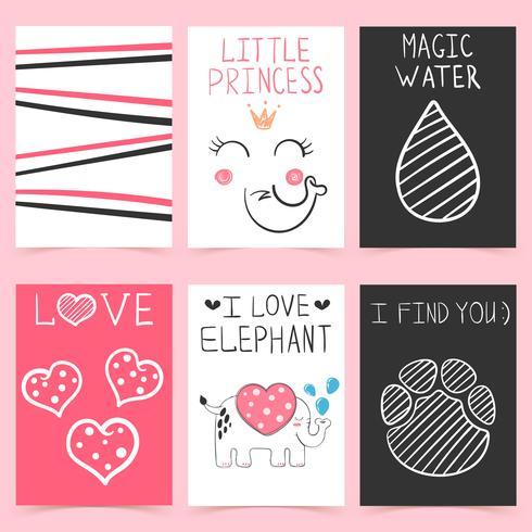 Cartoon elephant - set design template.