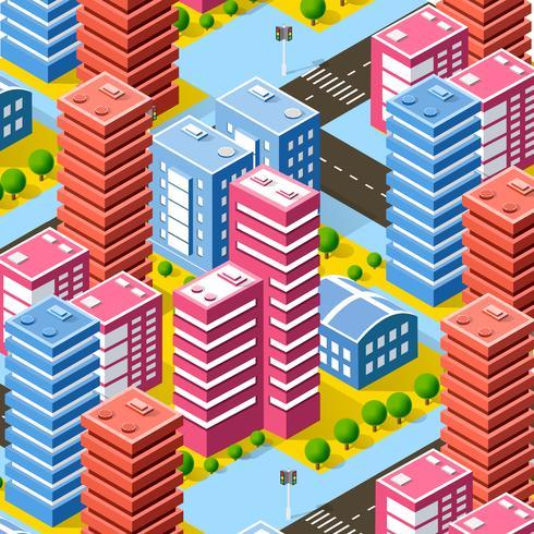 estructura de la ciudad de megapolis vector