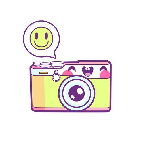 émoticône autocollant caméra
