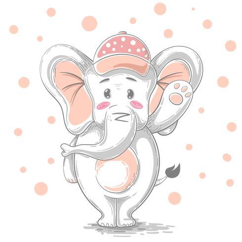 Cute, funny illustration - cartoon characters. vector