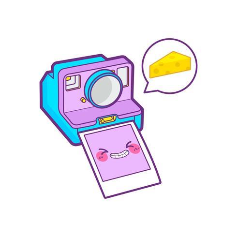 lindo emoticon de pegatina de cámara