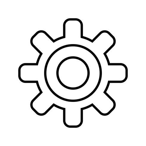 Icono de línea de ajuste negro vector