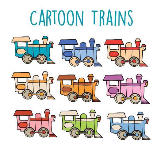 Locomotora de dibujos animados retro
