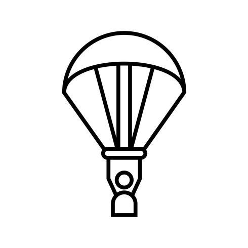 Paragliding Line Black Icon