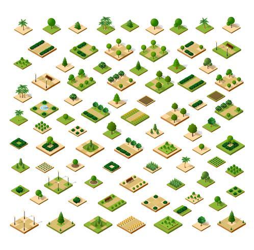 Isometrische 3D-set park
