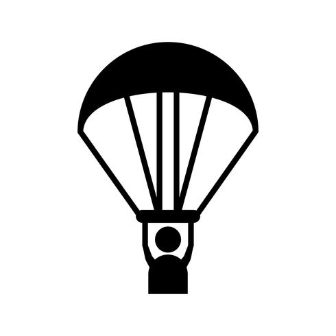 Paragliding Glyph Black Icon