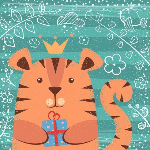 Simpatica piccola principessa - personaggi dei cartoni animati.