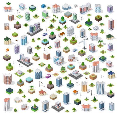 Città isometrica strada