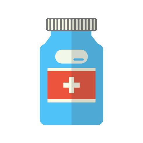 Icono de medicina plana multi color