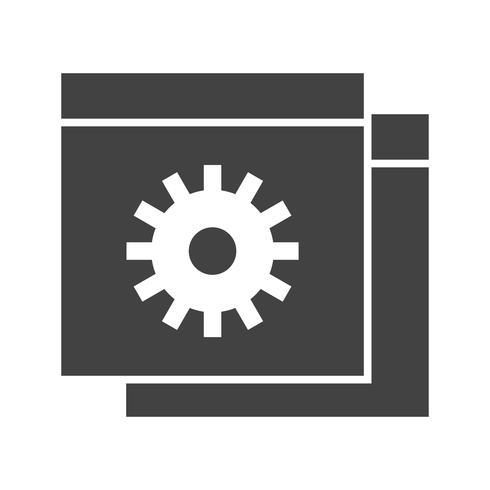 Icône de glyphe noir pour site Web