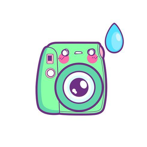 niedlicher Kameraaufkleber Emoticon