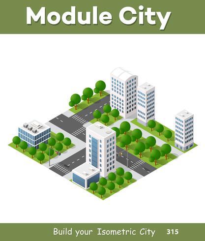 vettore architettura isometrica urbana