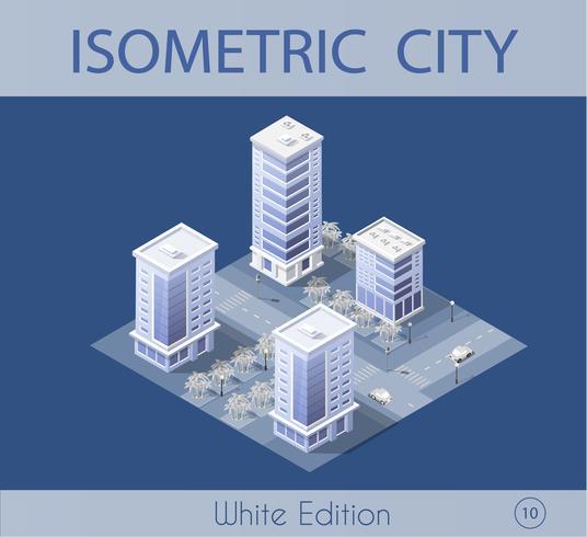 City set modern skyscraper vector