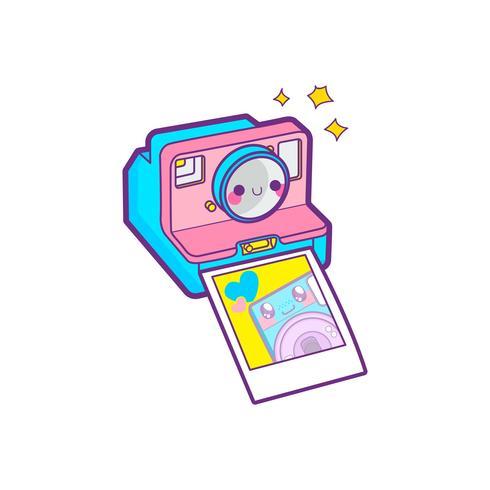 emoticon di adesivo fotocamera carina