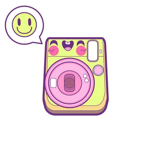 cute camera sticker emoticon