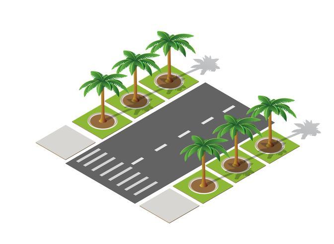 Highway city street road vector