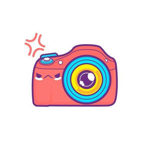 Emoticon bonito da etiqueta da câmera