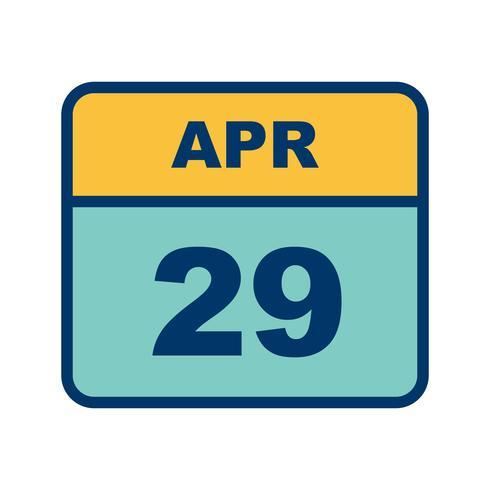 Calendar Date.April 29th Date On A Single Day Calendar Download Free Vector Art