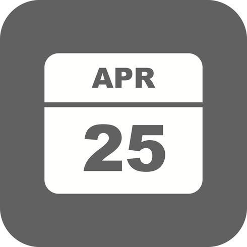 25 avril Calendrier d'une journée