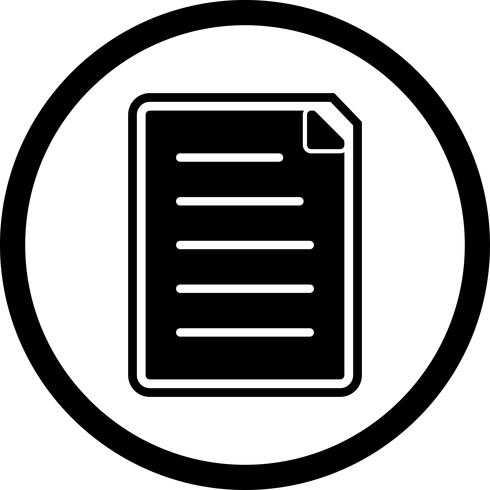 Design de ícone de documento
