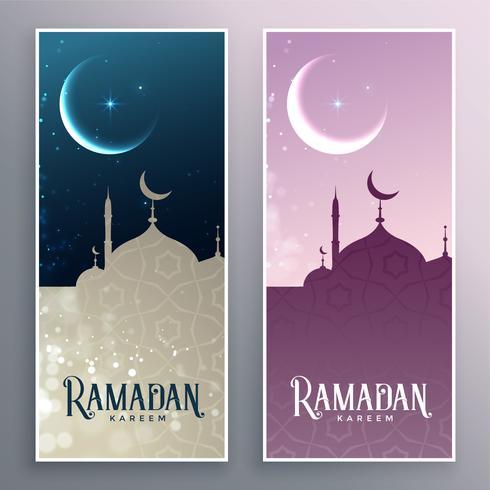 uppsättning ramadan kareem banners