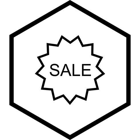 Design de ícone de venda