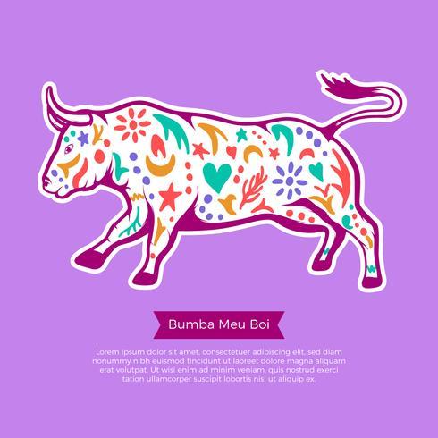 Illustrazione di Bumba Meu Boi Bull