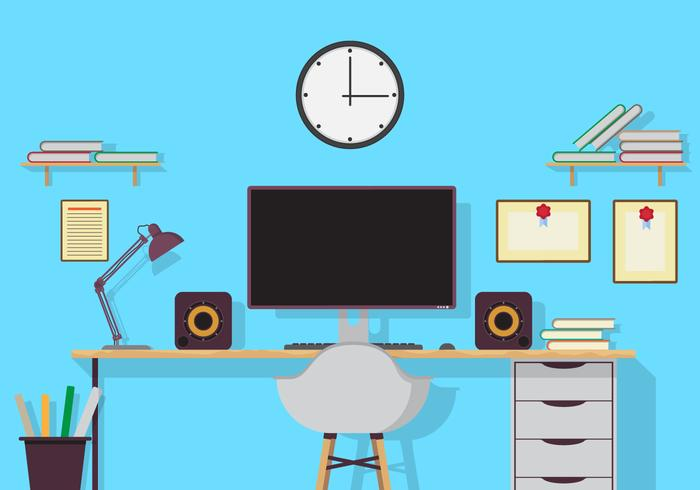 Büro-Studio-Vektor-Illustration