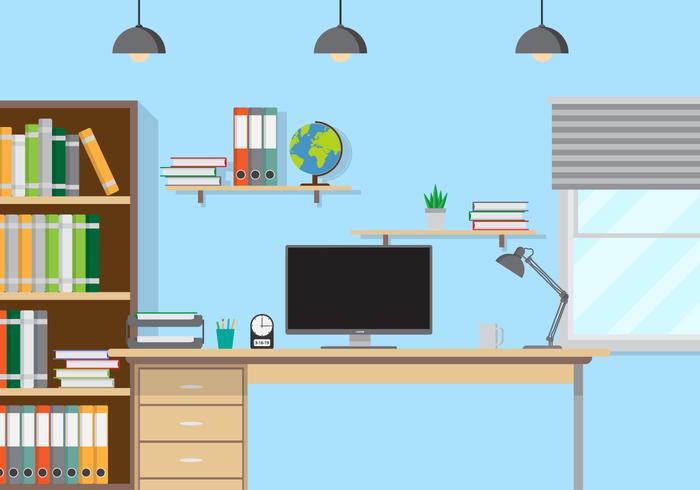 Ilustração de vetor de escritório Studio