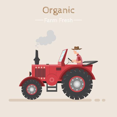 Trabalho agrícola em um campo com trator.