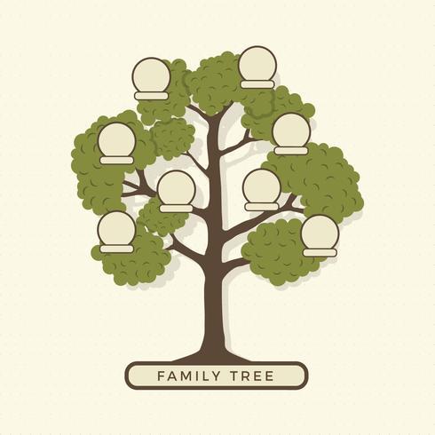 Modèle d'illustration d'arbre généalogique
