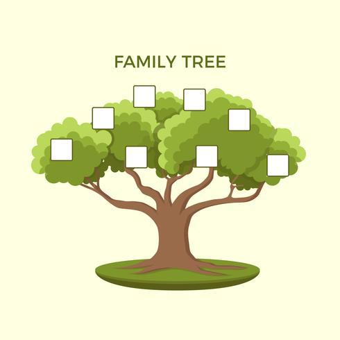 Modelo de ilustração de árvore genealógica