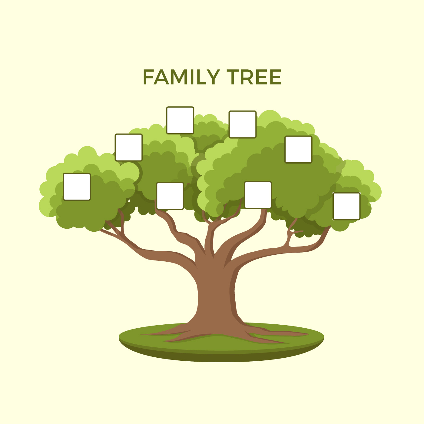 Family Tree Illustration Template - Download Free Vectors ...