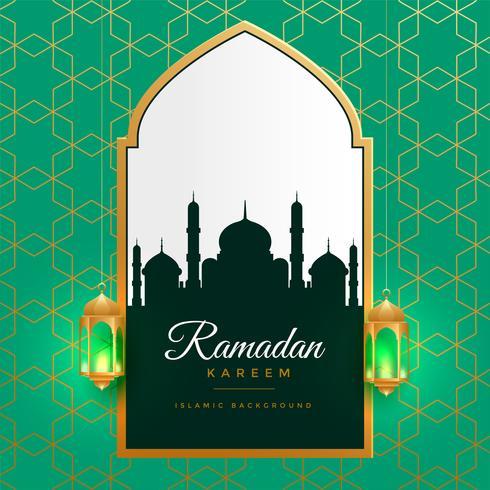 bella ramadan kareem sfondo dorato islamico