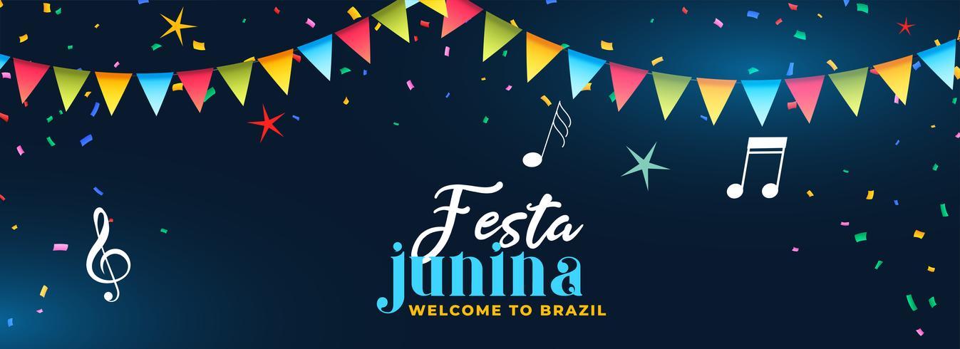 festa junina party feier musik banner