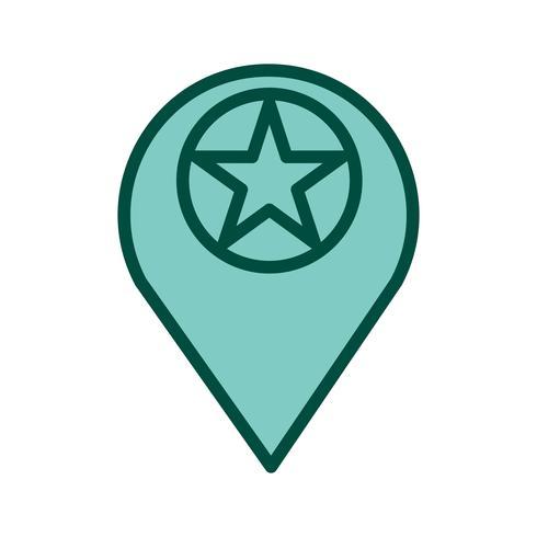 design de ícone de localização com estrela