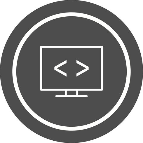 Design de ícone de otimização de código