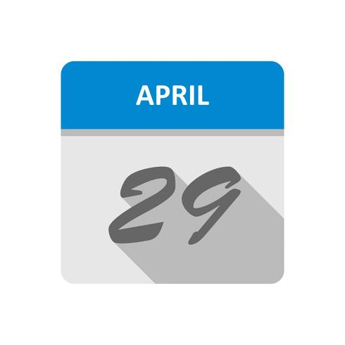 29. April Datum an einem Tageskalender