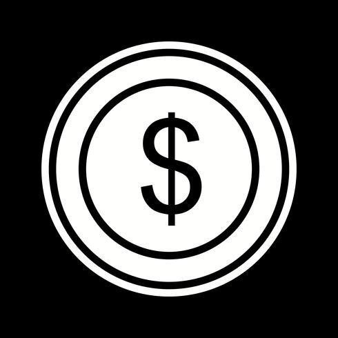 conception d'icône pièce de dollars