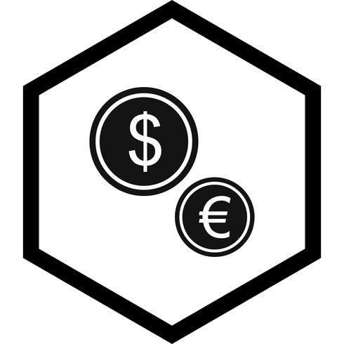 Moedas ícone Design