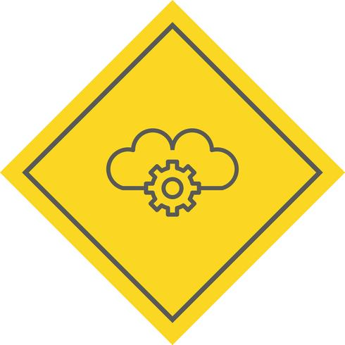 Disegno dell'icona di impostazioni cloud